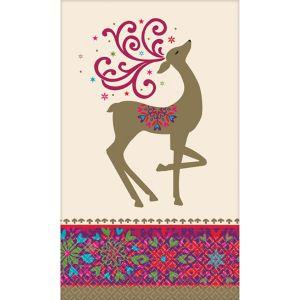Whimsical Winter Deer Guest Towels 36ct