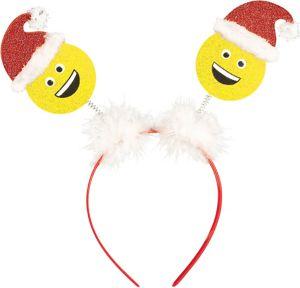 Glitter Smiley Santa Head Bopper