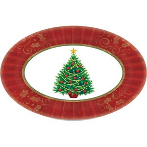 Christmas Tree Oval Platter