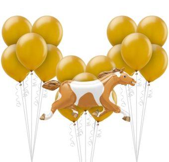 Gold Horse Racing Balloon Kit