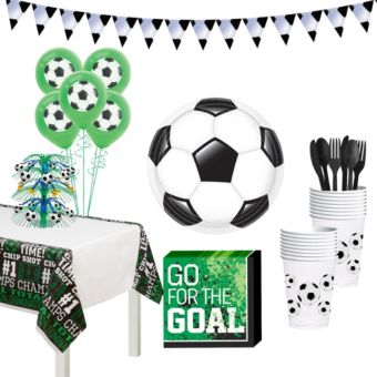 Soccer Super Tableware Kit for 16 Guests