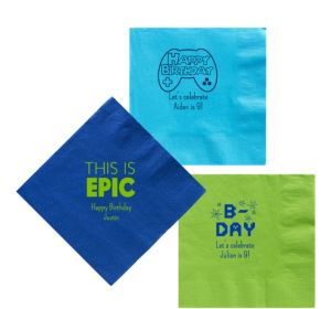Personalized Boys Birthday Lunch Napkins