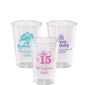 Personalized Milestone Birthday Hard Plastic Cups 14oz