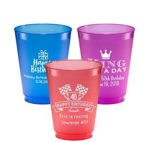 Personalized Milestone Birthday Plastic Shatterproof Cups 16oz