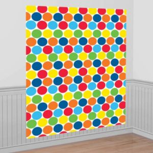 Bright Rainbow Dots Photo Backdrop