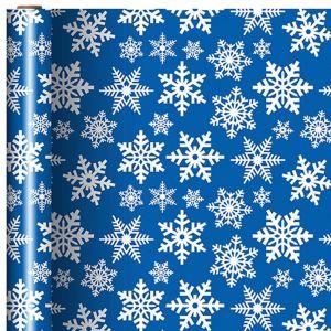 Blue & White Snowflake Gift Wrap