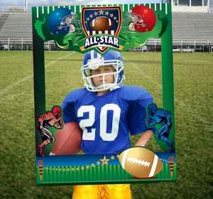 Giant Football Photo Booth Frame