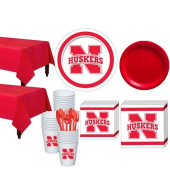 Nebraska Cornhuskers Basic Party Kit for 40 Guests