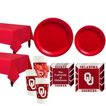 Oklahoma Sooners Basic Party Kit for 40 Guests