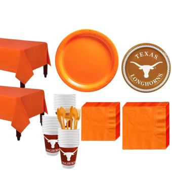 Texas Longhorns Basic Party Kit for 40 Guests
