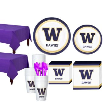 Washington Huskies Basic Party Kit for 40 Guests