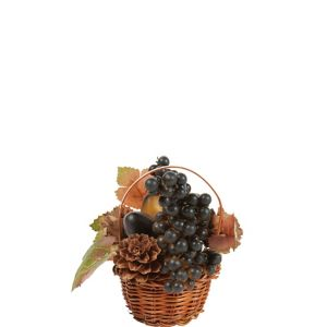 Mini Blueberry Wicker Basket Decoration