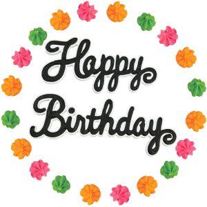 Wilton Happy Birthday Icing Decorations 22ct