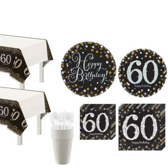 Sparkling Celebration 60th Birthday Party Kit for 16 Guests