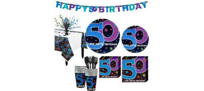 The Party Continues 50th Birthday Party Kit for 16 Guests