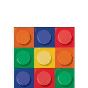 Building Blocks Beverage Napkins 16ct