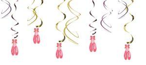 Ballerina Swirl Decorations 5ct