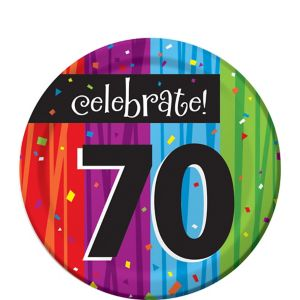 Colorful Celebrate 70 Dessert Plates 8ct
