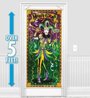 Mardi Gras Jester Door Cover