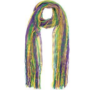 Glitter Striped Mardi Gras Scarf