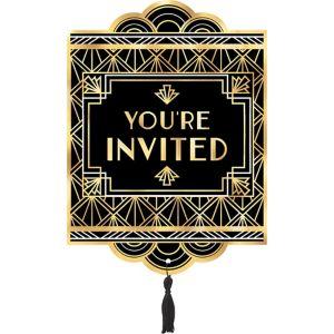 Metallic Hollywood Invitations 8ct
