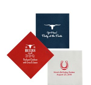 Personalized Summer Premium Beverage Napkins