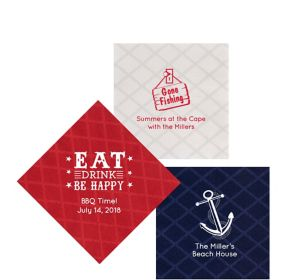 Personalized Summer Diamonds Beverage Napkins