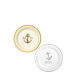 Personalized Summer Trimmed Premium Plastic Dessert Plates