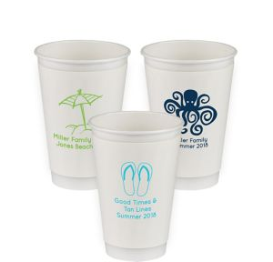 Personalized Summer Insulated Paper Cups 16oz
