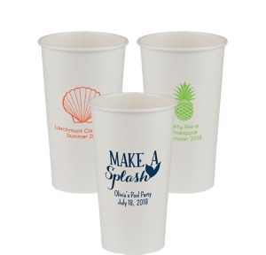 Personalized Summer Paper Cups 20oz