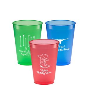 Personalized Summer Plastic Shatterproof Cups 12oz