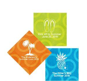 Personalized Luau Circles Beverage Napkins