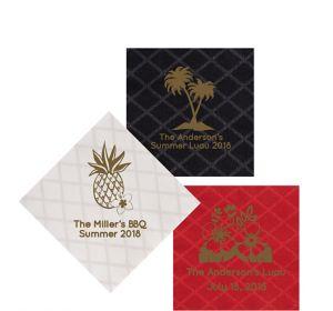 Personalized Luau Diamonds Beverage Napkins