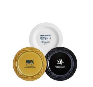 Personalized 4th of July Premium Plastic Dessert Plates