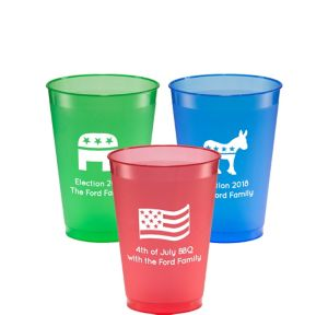 Personalized 4th of July Plastic Shatterproof Cups 12oz