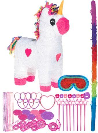 White Unicorn Pinata Kit with Favors
