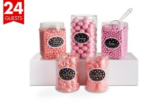 Pink Candy Buffet Kit for 24 Guests