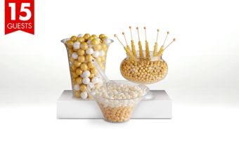 Gold Candy Buffet Kit with Containers for 15 Guests
