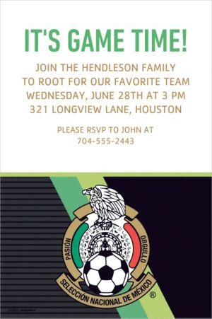 Custom Mexico National Team Invitation