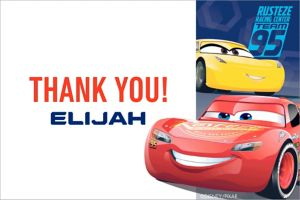 Custom Cars 3 Thank You Note