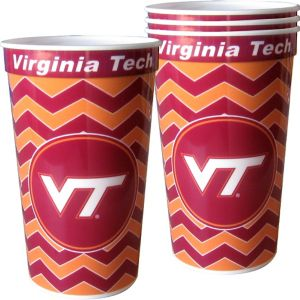 Virginia Tech Hokies Plastic Cups 4ct
