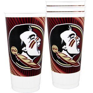 Florida State Seminoles Plastic Cups 4ct