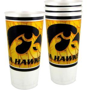 Iowa Hawkeyes Plastic Cups 4ct