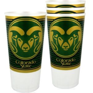Colorado State Rams Plastic Cups 4ct