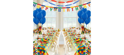Building Blocks Deluxe Party Kit for 16 Guests