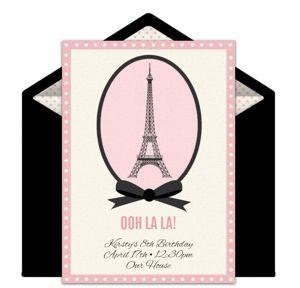 Online Paris Invitations