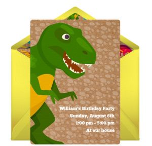 Online Dinosaur Invitations
