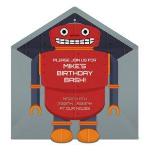 Online Robot Birthday Invitations