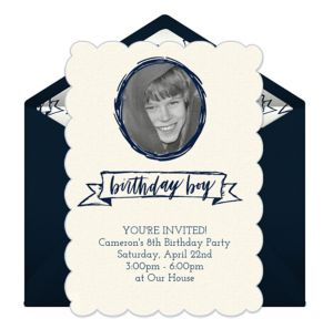 Online Birthday Boy Photo Invitations