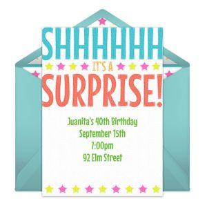 Online Bright Surprise Invitations